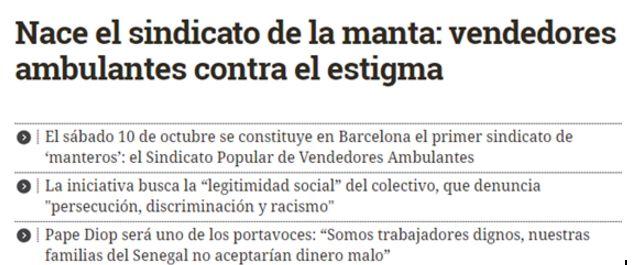 Notícia elaborada pel Diario.es on s'empra una fotografia de l'acte, no es parla de sindicat en cursiva i es procura aportar una informació més ampliada.