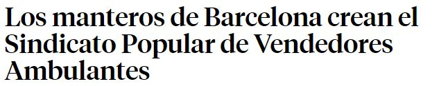 Titular de la noticia de La Vanguardia