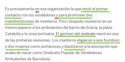 Fragment del text d'El País [faltes en vermell]